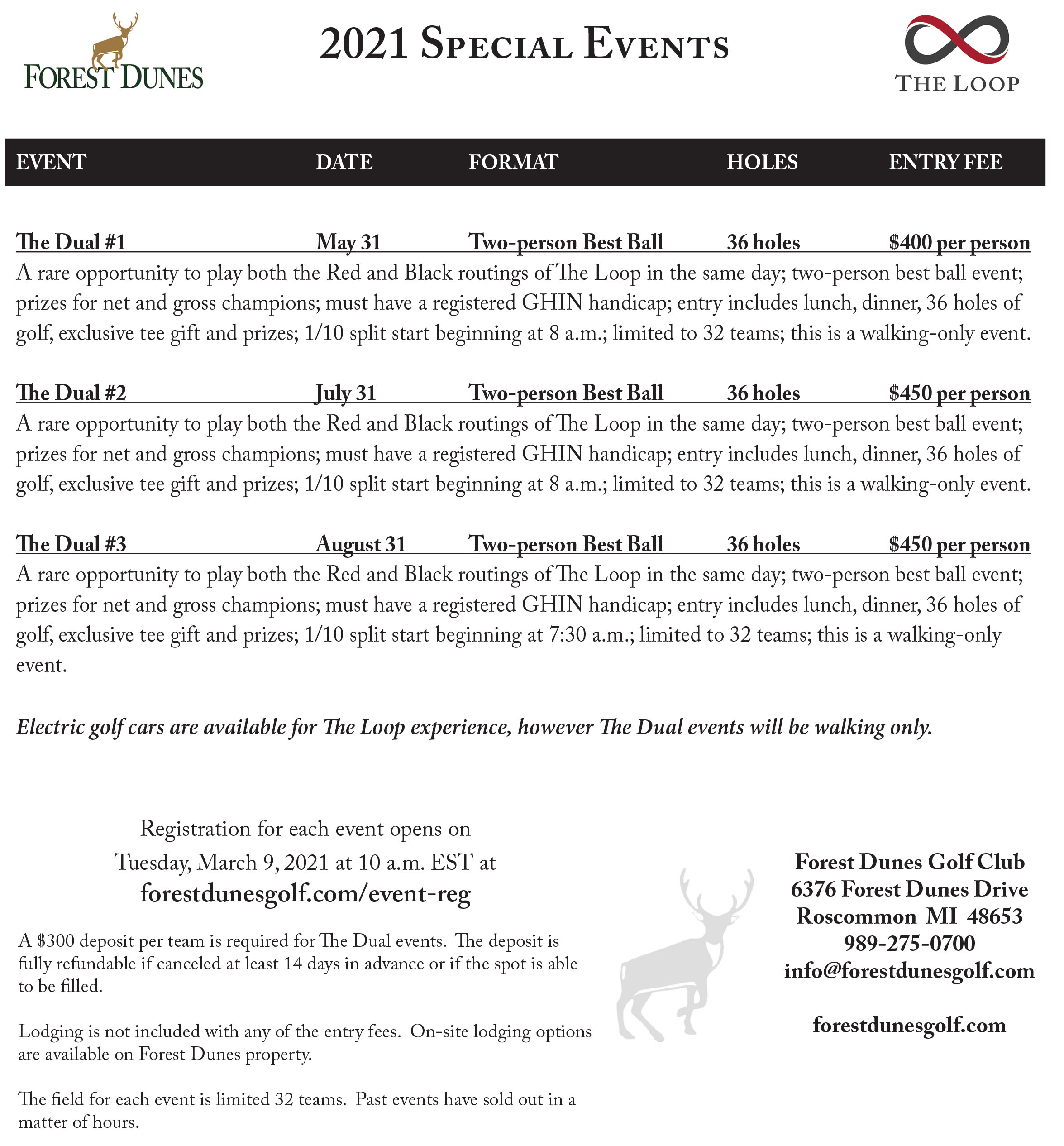 special event sheet 2 2019